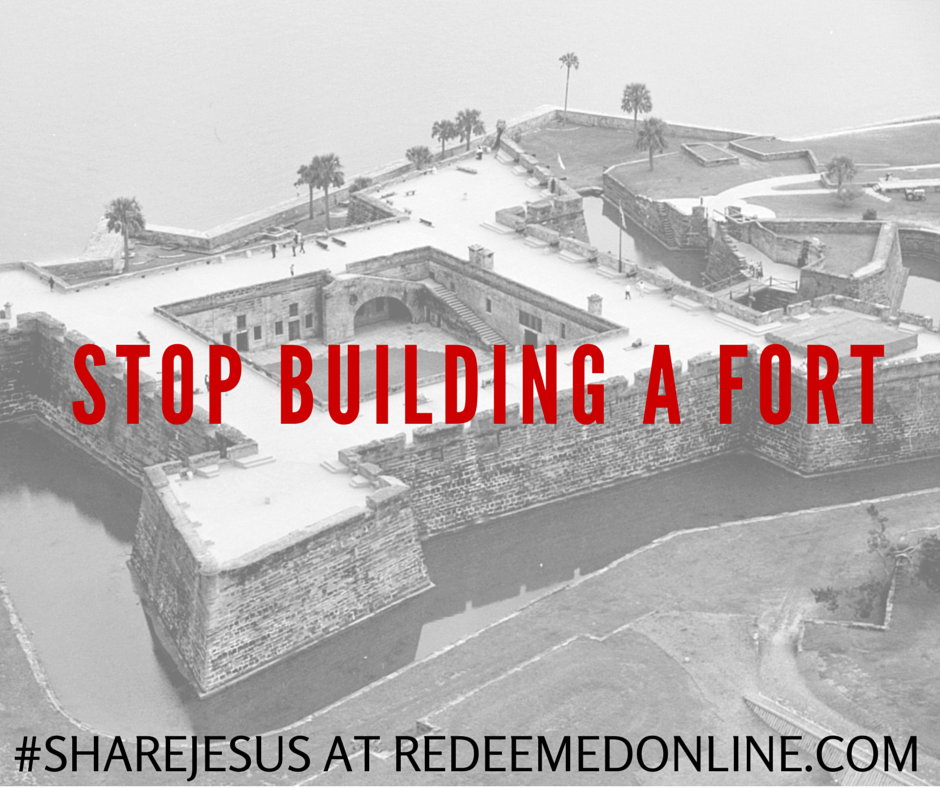 the church isn't meant to be a fort
