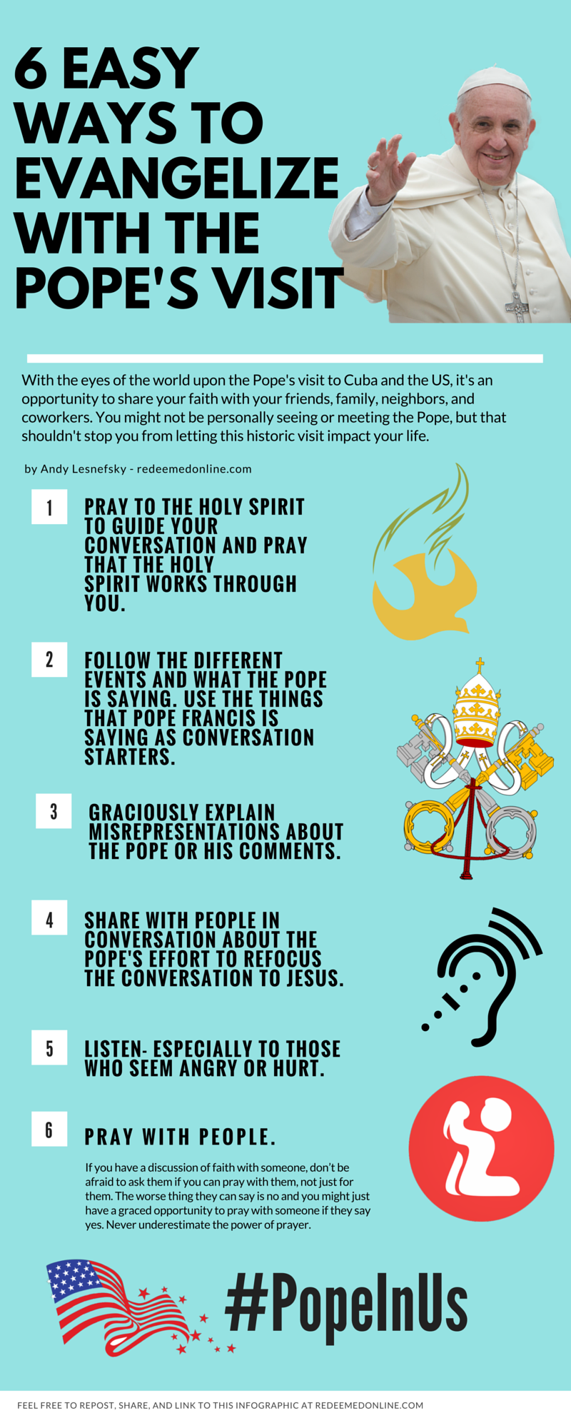 How to Evangelize Pope Francis Infographic