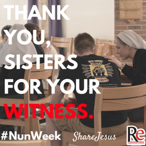 Thank you sisters #ShareJesus #NunWeek