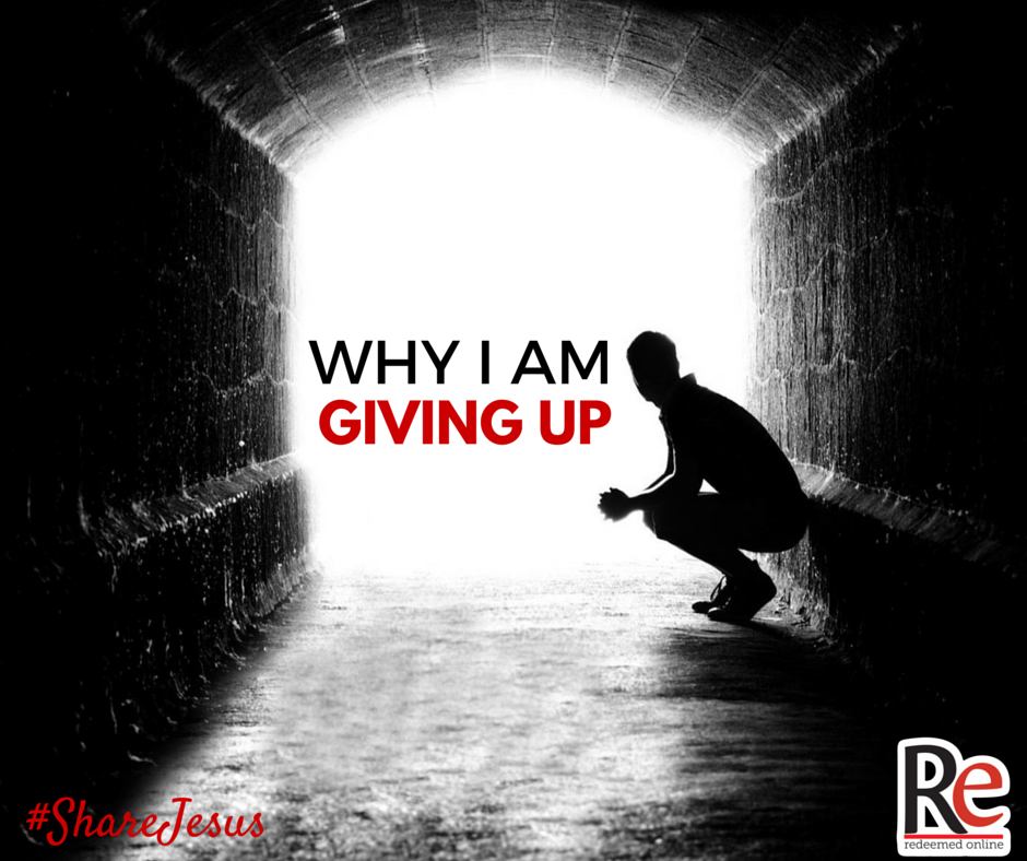 why i am giving up #ShareJesus Andy Lesnefsky