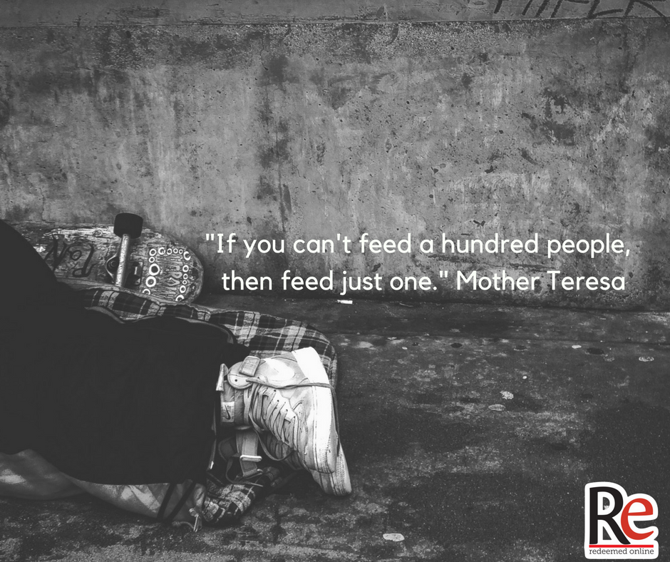 feed 100 mother teresa quote